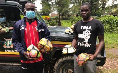Soccer Balls arrive in Nairobi